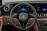 Car pictures of steering wheel view of a 2021 Mercedes Benz E-Class All-terrain-Avantgarde 5 Door Wagon Steering Wheel