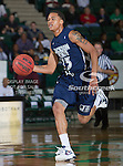 Jackson State Tigers guard Christian Williams (13) in action during the game between the Jackson State Tigers and the University of North Texas Mean Green at the North Texas Coliseum,the Super Pit, in Denton, Texas. UNT defeated Jackson State 69 to 55...