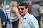 August 07, 2021: Trainer Rudy Rodriguez smiles after Bella Sofia #8, ridden by jockey Luis Saez wins the Test Stakes (Grade 1) for three-year-old fillies at Saratoga Race Course in Saratoga Springs, N.Y. on August 7, 2021. Rob Simmons/Eclipse Sportswire/CSM