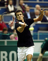 20040216, Rotterdam, ABNAMRO WTT, John van Lottum in zijn partij tegen Kucera
