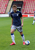 10th October 2020; Bescot Stadium, Wallsall, West Midlands, England; English Football League Two, Walsall FC versus Colchester United; Tom Eastman of Colchester United warming up