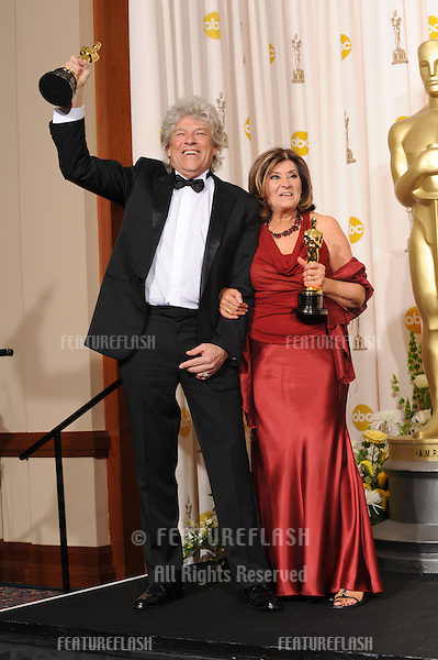 Didier Lavergne & Jan Archibald at the 80th Annual Academy Awards at the Kodak Theatre, Hollywood..February 24, 2008 Los Angeles, CA.Picture: Paul Smith / Featureflash