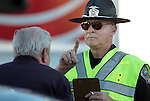 A driver is given a field sobriety check at a DUI checkpoint in Carson City, Nev. on Sunday, Sept. 2, 2012. Several area agencies participated including Carson City Sheriff's Department, Nevada Highway Patrol and Lyon County Sheriff..Photo by Cathleen Allison