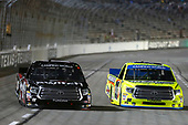 NASCAR Camping World Truck Series<br /> JAG Metals 350<br /> Texas Motor Speedway<br /> Fort Worth, TX USA<br /> Friday 3 November 2017<br /> Noah Gragson, Switch Toyota Tundra Matt Crafton, Ideal Door / Menards Toyota Tundra<br /> World Copyright: Matthew T. Thacker<br /> LAT Images