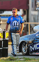 Jul, 9, 2011; Joliet, IL, USA: NHRA pro stock driver Allen Johnson during qualifying for the Route 66 Nationals at Route 66 Raceway. Mandatory Credit: Mark J. Rebilas-