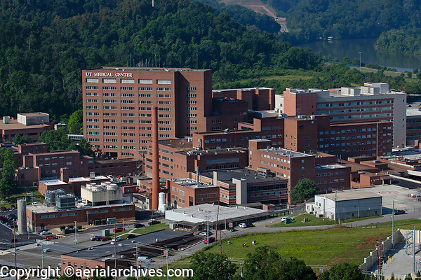 aerial photograph of the University of Tennessee Medical Center, Knoxville, Knox County, Tennessee