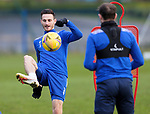 St Johnstone Training…. 09.12.20<br />Scott Tanser pictured with Chris Kane during training ahead of Saturdays home game against Livingston.<br />Picture by Graeme Hart.<br />Copyright Perthshire Picture Agency<br />Tel: 01738 623350  Mobile: 07990 594431