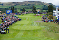 25.09.2014. Gleneagles, Auchterarder, Perthshire, Scotland.  The Ryder Cup.  View of the first tee prior to the team Europe Practice round.