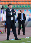 St Johnstone v FC Minsk...01.08.13 Europa League Qualifier at Neman Stadium, Grodno, Belarus...<br /> Tommy Wright watches the game<br /> Picture by Graeme Hart.<br /> Copyright Perthshire Picture Agency<br /> Tel: 01738 623350  Mobile: 07990 594431