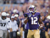 Dwayne Washington runs for an 81 yard touchdown on a pass from Jake Browning in the second quarter.