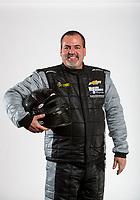 Feb 6, 2020; Pomona, CA, USA; NHRA pro stock driver Chris McGaha poses for a portrait during NHRA Media Day at the Pomona Fairplex. Mandatory Credit: Mark J. Rebilas-USA TODAY Sports