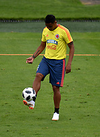 BOGOTA - COLOMBIA, 24–05-2018: Luis Fernando Muriel, jugador de la Selección Colombia, durante entrenamiento en el Estadio Nemesio Camacho El Campín, en Bogotá. Colombia se prepara para la próxima la Copa Mundo FIFA 2018 Rusia. / Luis Fernando Muriel, player of the Colombia team, during training at the Nemesio Camacho El Campin stadium, in Bogotá city. Colombia prepares for the next 2018 FIFA World Cup Russia. Photo: VizzorImage / Luis Ramirez /Staff.