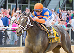 May 16, 2014: Stopchargingmaria, ridden by Javier Castellano, wins the Black-Eyed Susan Stakes on Black-Eyed Susan Day at Pimlico Race Course in Baltimore, MD. Scott Serio/ESW/CSM