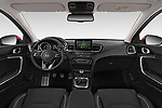 Stock photo of straight dashboard view of 2019 KIA Ceed More 5 Door Hatchback Dashboard