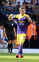 Pictured: Pablo Hernandez of Swansea celebrating his goal.<br /> Sunday 01 September 2013<br /> Re: Barclay's Premier League, West Bromwich Albion v Swansea City FC at The Hawthorns, Birmingham, UK.