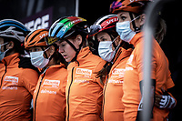 World Champion Anna van der Breggen (NED/Boels-Dolmans) at the pre race team presentation<br /> <br /> 4th Liège-Bastogne-Liège-Femmes 2020 (1.WWT)<br /> 1 Day Race: Bastogne – Liège 135km<br /> <br /> ©kramon