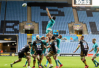 21st August 2020; Ricoh Arena, Coventry, West Midlands, England; English Gallagher Premiership Rugby, Wasps versus Worcester Warriors; Andrew Kitchener of Worcester Warriors catches the ball in a lineout