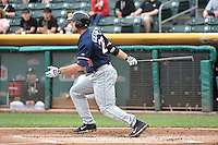 Roger Kieschnick (29) of the Reno Aces at bat against the Salt Lake Bees at Smith's Ballpark on May 4, 2014 in Salt Lake City, Utah.  (Stephen Smith/Four Seam Images)