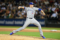 Toronto Blue Jays pitcher Aaron Sanchez (41) delivers a pitch during a game against the Chicago White Sox on August 15, 2014 at U.S. Cellular Field in Chicago, Illinois.  Chicago defeated Toronto 11-5.  (Mike Janes/Four Seam Images)