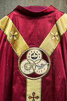 Chasuble worn by a priest during the celebration of catholic mass.