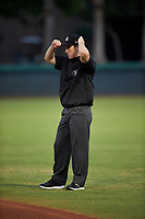 Umpire Austin Snow during an Arizona League game between the AZL Giants Orange and AZL Dodgers Mota on June 29, 2019 at Camelback Ranch in Glendale, Arizona. The AZL Giants Orange defeated the AZL Dodgers Mota 9-3. (Zachary Lucy/Four Seam Images)