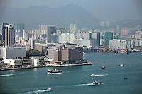 A generic shot of Hong Kong harbour view - Kowloon side (Tsim Sha Tsui area).