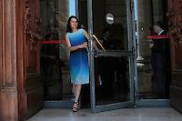 Aurelie Filippetti<br /> Roma 11-07-2014 Galleria Nazionale d'Arte Moderna e Contemporanea. Il Ministro dei Beni e delle Attività Culturali e del Turismo italiano incontra il suo omologo francese.<br /> The italian Minister of Culture and the French Minister of Culture and communication visiting the Gallery of Modern Art in Rome.<br /> Photo Samantha Zucchi Insidefoto