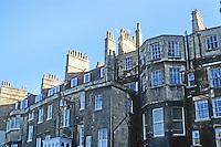 Bath: Rear of Royal Crescent.