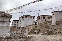 Streets of Stakna Monastery or Stakna Gonpa. Ladakh,  Jammu and Kashmir, India.