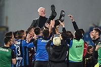 Antonio Percassi president of Atalanta celebrates at the end of the match <br /> Reggio Emilia 26-02-2019 Mapei Stadium <br /> Football Serie A 2018/2019 Atalanta - Sassuolo   <br /> Foto Daniele Buffa/ Image Sport / Insidefoto