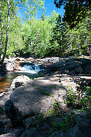 Caribou River upstream from the falls.