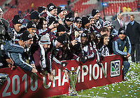 21 November 2010:  The Colorado Rapid are the MLS Champions after winning the 2010 MLS Cup Final between the Colorado Rapids and FC Dallas at BMO Field in Toronto, Ontario Canada..The Colorado Rapids won 2-1 in extra time....