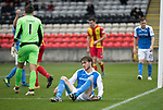 Partick Thistle v St Johnstone…28.10.17…  Firhill…  SPFL<br />Murray Davidson pictured after his shot was saved by Tomas Cerny<br />Picture by Graeme Hart. <br />Copyright Perthshire Picture Agency<br />Tel: 01738 623350  Mobile: 07990 594431
