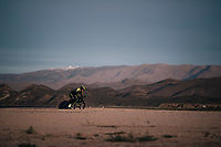 Esteban Chavez (COL/Michelton-Scott) during TT training at dawn at the Circuito de Almeria Fans with the mighty Sierra Nevada as a backdrop<br /> <br /> Michelton-Scott training camp in Almeria, Spain<br /> february 2018