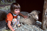 SH01-027z  Sheep -child with sheep.