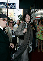 August 2004 File Photo - Montreal, Quebec, Canada -<br /> World Film Festival's President Serge Losique  (L) give tribute to Isabelle Adjani