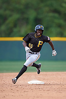 Pittsburgh Pirates Eric Thomas (65) during a minor league Spring Training game against the Toronto Blue Jays on March 24, 2016 at Pirate City in Bradenton, Florida.  (Mike Janes/Four Seam Images)