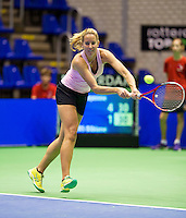 Rotterdam,Netherlands, December 15, 2015,  Topsport Centrum, Lotto NK Tennis, Chayenne Ewijk (NED)<br /> Photo: Tennisimages/Henk Koster