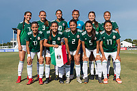 Bradenton, FL - Sunday, June 12, 2018: Mexico Starting XI prior to a U-17 Women's Championship Finals match between USA and Mexico at IMG Academy.  USA defeated Mexico 3-2 to win the championship.