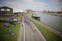 peloton along the canal in the local laps<br /> <br /> 103rd Scheldeprijs 2015