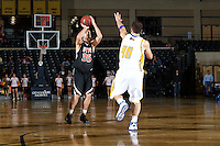 SAN ANTONIO, TX - FEBRUARY 14, 2009: The University of Texas of the Permian Basin Falcons vs. the St. Mary's University Rattlers Men's Basketball at the Bill Greehey Arena. (Photo by Jeff Huehn)