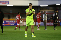 Ruel Sotiriou of Leyton Orient thanks the fans during Crawley Town vs Leyton Orient, Papa John's Trophy Football at The People's Pension Stadium on 5th October 2021