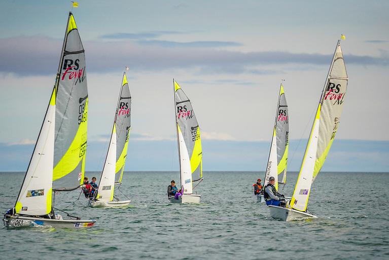 RS Feva racing at Rush Sailing Club