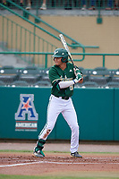 USF Bulls second baseman Jordan Santos (5) at bat during a game against the Dartmouth Big Green on March 17, 2019 at USF Baseball Stadium in Tampa, Florida.  USF defeated Dartmouth 4-1.  (Mike Janes/Four Seam Images)