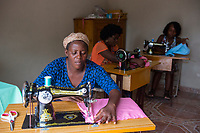 Haiti, Gros-Morne. Mercy Beyond Borders projects. Women in sewing training class.