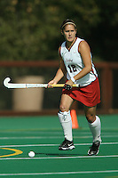 6 November 2007: Stanford Cardinal Bailey Richardson during Stanford's 1-0 win against the Lock Haven Lady Eagles in an NCAA play-in game to advance to the NCAA tournament at the Varsity Field Hockey Turf in Stanford, CA.