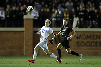 WINSTON-SALEM, NC - DECEMBER 07: Derek Kryzda #17 of the University of California Santa Barbara and Alistair Johnston #8 of Wake Forest University chase the ball during a game between UC Santa Barbara and Wake Forest at W. Dennie Spry Stadium on December 07, 2019 in Winston-Salem, North Carolina.