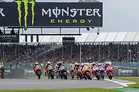 29th August 2021; Silverstone Circuit, Silverstone, Northamptonshire, England; MotoGP British Grand Prix, Race Day; The start of the British Grand Prix as the riders take corner 1