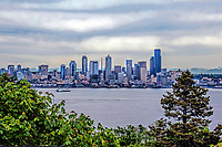 A typical overcast day in downtown Seattle, Washington State.