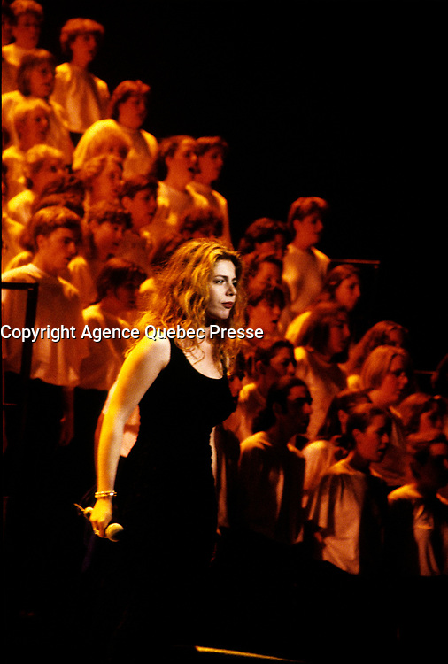 Montreal (Qc) CANADA - File Photo - circa 1995 - Isabelle Boulay<br /> <br /> -Photo (c)  Images Distribution